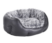 MINI QUILTED BLACK PET BED