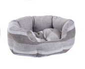 MINI GREY STRIPE PET BED