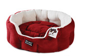 Luxury Oval Bed - Red & Plush Red