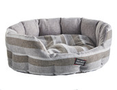 DND Oval Bed - Grey Stripes