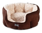Luxury Oval Cat Bed - Chocolate