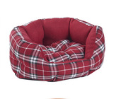 MINI RED TARTAN PET BED