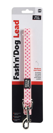 Dotted Dog Lead - Medium Purple/Pink picture
