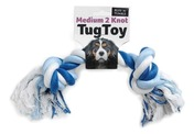 Medium 2 Knot Tug Toy 200G Pink/white Blue/white Black/white 2.6 cm x 30cm