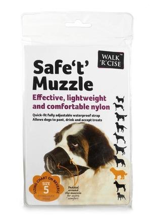 Safe 't' Muzzle Size 5 black nose picture
