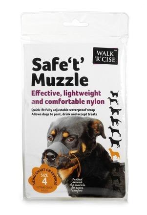 Safe 't' Muzzle Size 4 black nose picture