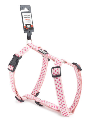 Dotted Dog Harness - Medium Purple/Pink picture
