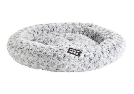 DND Lux Round Plush - Grey & Cream Cat Bed picture