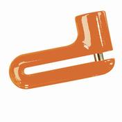 KryptoLok 10-S DFS Disc Lock (Orange)