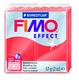 FIMO effect  modelling clay, red transparent, box of 6
