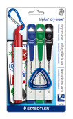triplus dry-erase 4pk assorted- chisel