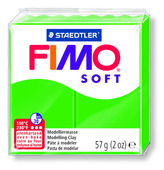FIMO soft modelling clay, tropical green, box of 6