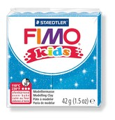 Fimo kids modelling clay, glitter blue, box of 8