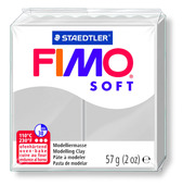 FIMO soft modelling clay, dolphin grey, box of 6