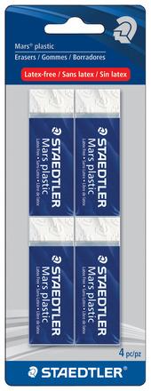 Mars plastic premium eraser, 4pc blistercard picture