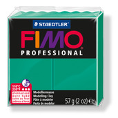 FIMO professional modelling clay, green, box of 6