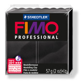 FIMO professional modelling clay, black, box of 6