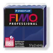 FIMO professional modelling clay, navy blue, box of 6