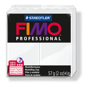 FIMO professional modelling clay, white, box of 6