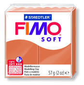 FIMO soft modelling clay, cognac, box of 6