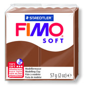 FIMO soft modelling clay, caramel, box of 6