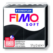 FIMO soft modelling clay, black, box of 6