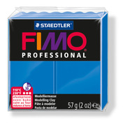 FIMO professional modelling clay, blue, box of 6