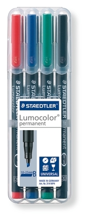 Lumocolor permanent universal pen, Broad set of 4 picture
