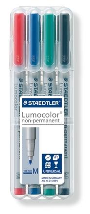 Lumocolor non-permanent universal pen, Medium, set of 4 picture