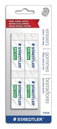 STAEDTLER PVC/Latex free eraser, 4pk picture