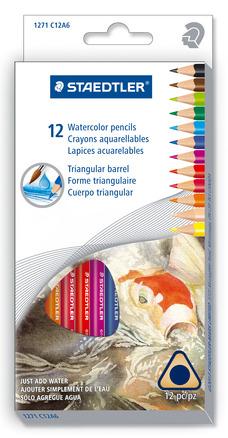 Watercolored pencils 12ct box picture