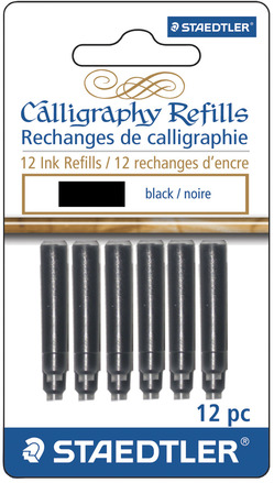 STAEDTLER calligraphy refill black, 12pk picture