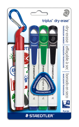 triplus dry-erase 4pk assorted- chisel picture