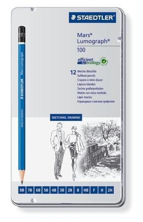 Mars Lumograph Premium pencil, set of 12 (soft) picture