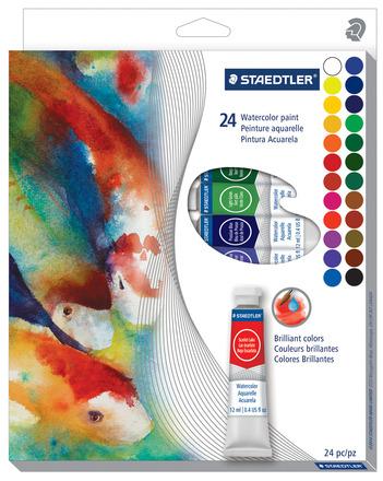 Watercolour Paint, 24 pc 12ml Tube picture
