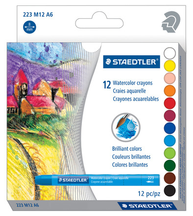 Watercolor crayon  12pc picture