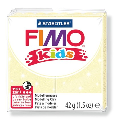 Fimo kids modelling clay, pearl yellow, box of 8 picture