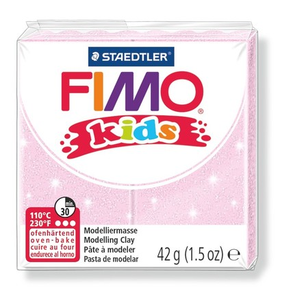 Fimo kids modelling clay, pearl rosa, box of 8 picture