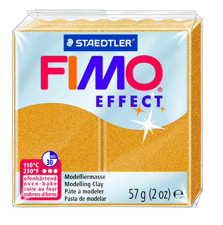 FIMO effect  modelling clay, gold (metallic), box of 6 picture