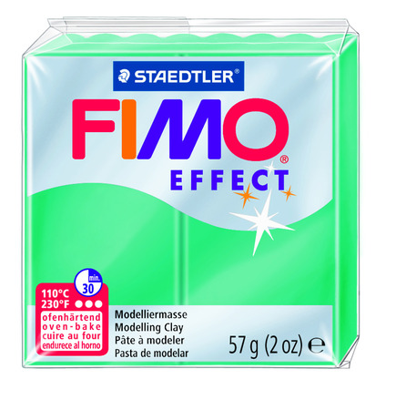 FIMO effect  modelling clay, green transparent, box of 6 picture