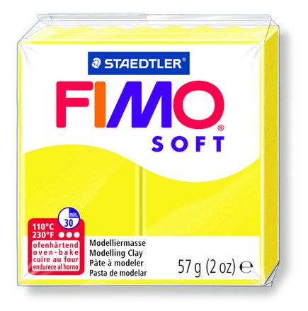 FIMO soft modelling clay, lemon, box of 6 picture