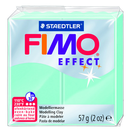 FIMO effect  modelling clay, mint, box of 6 picture