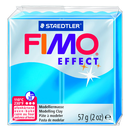 FIMO effect  modelling clay, blue transparent, box of 6 picture