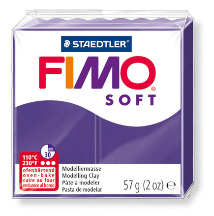 FIMO soft modelling clay, plum, box of 6 picture