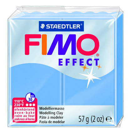 FIMO effect  modelling clay, blue agate, box of 6 picture
