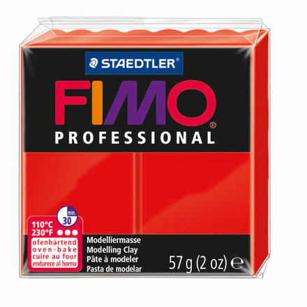 FIMO professional modelling clay, red, box of 6 picture