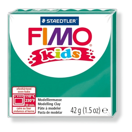 FIMO kids modelling clay, green, box of 8 picture