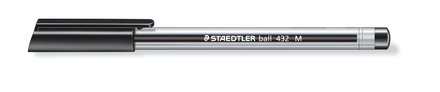 Ball 432 ballpoint pen, Medium black, box of 10 picture