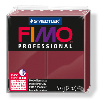 FIMO professional modelling clay, bordeaux, box of 6 picture