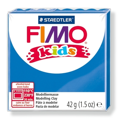 FIMO kids modelling clay, blue, box of 8 picture